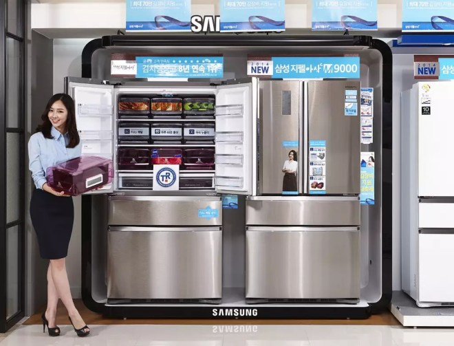 Koreans love kimchi so much they have special 'kimchi' fridge to store they favorite staple; Image Source: flickr