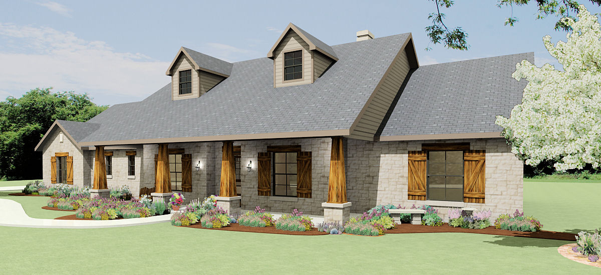 Texas Hill Country Ranch S2786L Texas House Plans Over 700