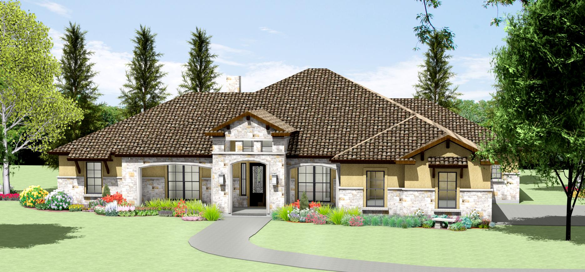 Texas Hill Country Limestone House Plans