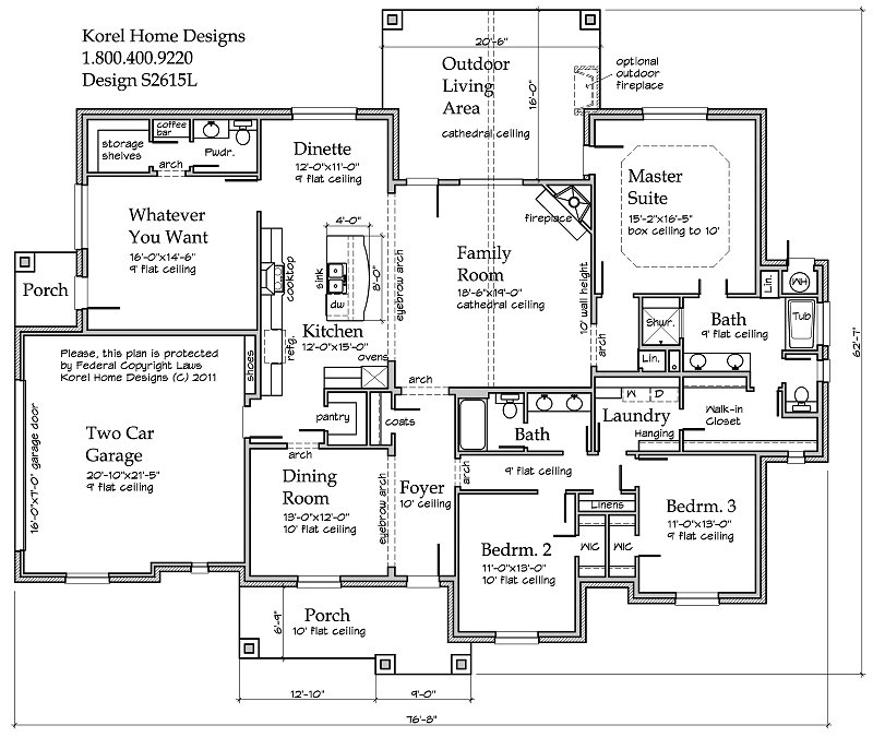 Country Plan S2615L Texas House Plans Over 700 Proven Home