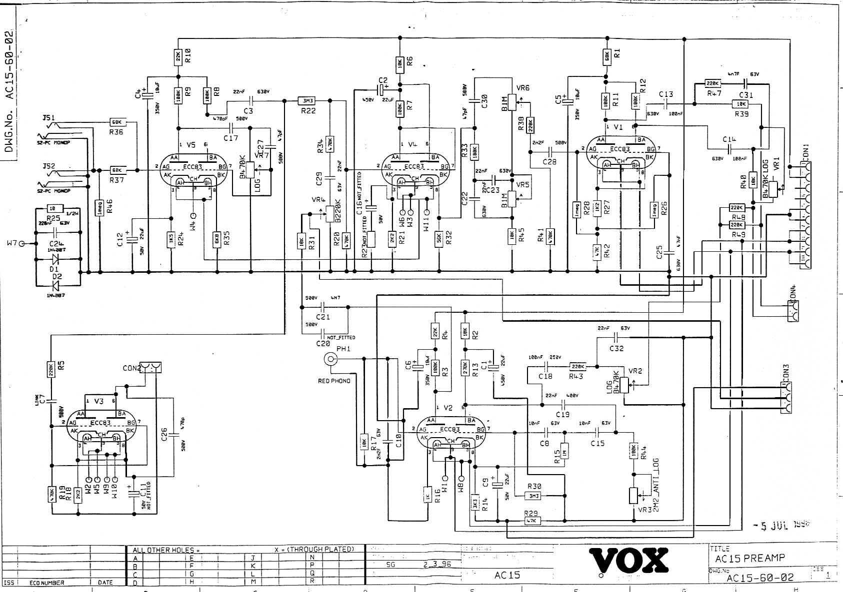 hight resolution of ac15 1996 onward pre amp section download diagram