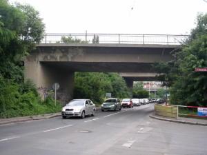 """Jižní spojka - mosty """"V Korytech""""."""