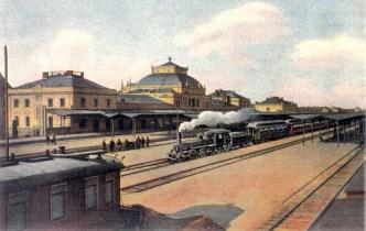 Dobový pohled na osobní nádraží