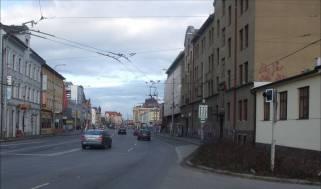 Obr. č. 19 Pohled na stejné místo dnes, Nádražní ulice.