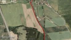 Chotoviny - turistická trasa u Chotovin |Zdroj: mapy.cz|