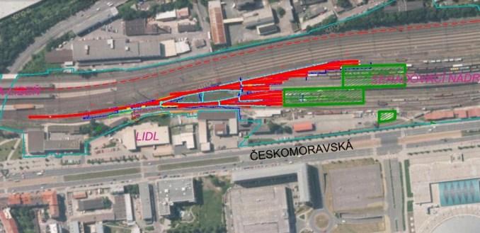 Situace stavby Praha-Libeň