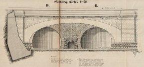 Alternativní návrh architektonického ztvárnění společného severního portálu II. a III.tunelu (1940)