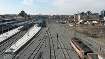 Plzeň Hlavní nádraží - severní nástupiště - bezbariérový vstupy a výstupy nového podchodu ve východní části nádraží