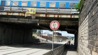 Plzeň Hlavní nádraží - mosty Mikulášská ulice