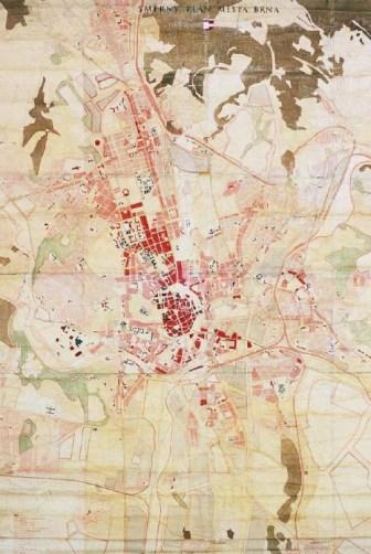 Směrný plán města Brna, Státní projektový ústav pro výstavbu měst a vesnic v Brně, František Kočí, 1956 - 1957