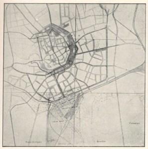 Soutěž na regulaci vnitřního města, Max Urban, Alois Kubíček, nejvyšší, 3. cena,1924