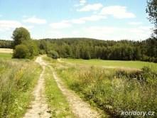 Moraveč - bývalé těleso zrušené trati -zpětný pohled směr Chotoviny.