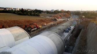 Plzeňský uzel 29.8.2018 Ejpovický tunel - výjezdové portály (směr Plzeň) (Autor: Luboš Sládek, koridory.cz)