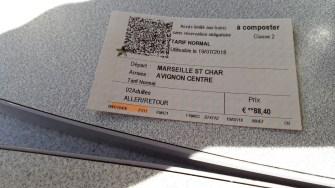 Marseille - Avignon Zpáteční jízdenka pro dvě osoby (Autor: Luboš Sládek, koridory.cz)
