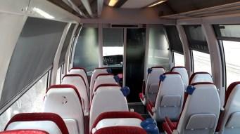 Korsika Bastia - Corte Interiér vlaku (Autor: Luboš Sládek, koridory.cz)