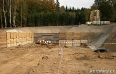 Sudoměřice - Votice: tunel Deboreč, severní (výjezdový) portál, odkud bude probíhat ražba (foto: koridory.cz).