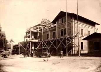 Čelákovice - historické foto (zdroj: Národní archiv - Pamětní kniha žst. Čelákovice)