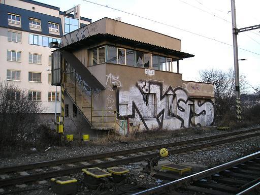Praha-Vršovice os.n. - již zdemolované stanoviště St.XV, také bývalé stavědlo (foto: prahamhd.vhd.cz).