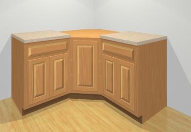 Angled Corner Kitchen Cabinets
