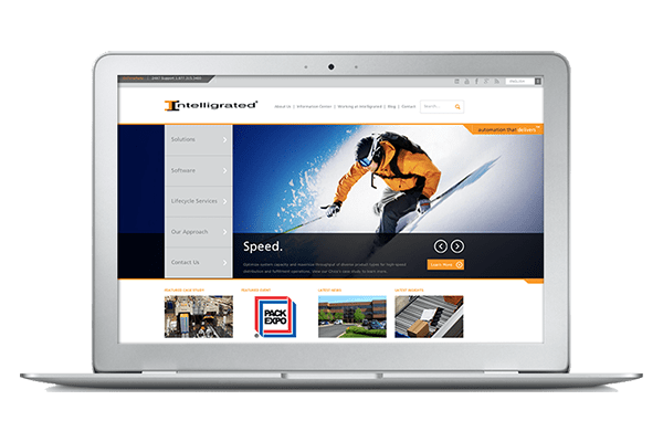 We helped Intelligrated redo their site around their new brand identity.