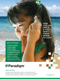 Another print ad developed for Paradigm