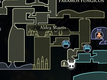 Maestro de las Embestidas Hollow Knight Localización Mapa