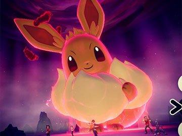 Eevee Gigamax en Pokémon Espada y Escudo