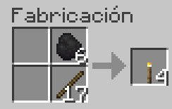 Receta de la Antorcha en Minecraft