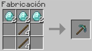 Receta del Pico de Diamante en Minecraft