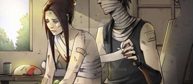 Zabuza y Naruto en Naruto