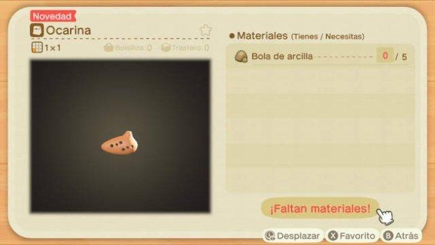 Receta de la Ocarina en Animal Crossing New Horizons