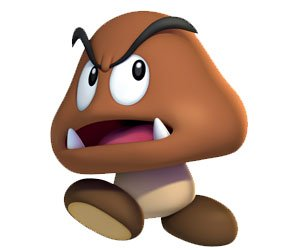 Diseño Final de Goomba en Super Mario Bros