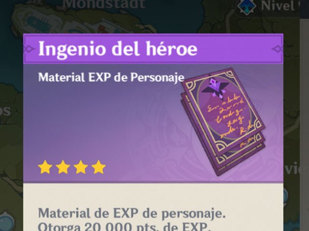 Libros de Experiencia en Genshin Impact