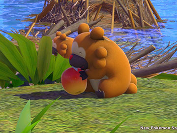 Bidoof de 2 Estrellas en New Pokémon Snap
