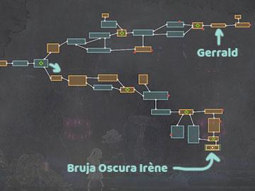 Mapa con la Localización de Bruja Oscura Irène