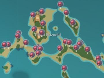 Mapa con la Localización del Dendrobio en Ia Playa Nazuchi