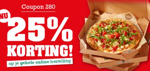 25% korting bij New York Pizza