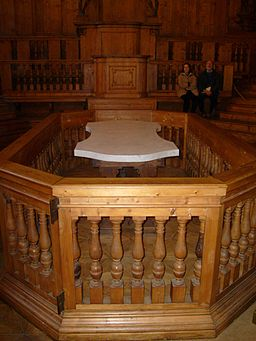 Anatomical theatre of the Archiginnasio, Bologna, Italy
