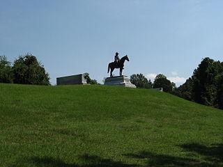 Grant reconnoitering at Vicksburg