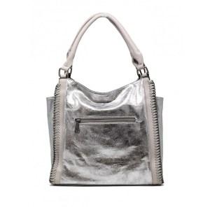 muotilaukku-hopea