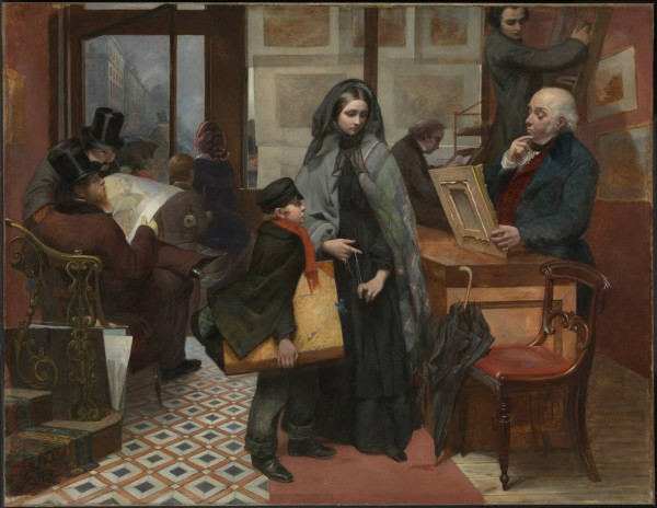 """Nameless and Friendless. """"The rich man's wealth is his strong city, etc."""" - Proverbs, x, 15 1857 Emily Mary Osborn 1828-1925 Purchased with assistance from Tate Members, the Millwood Legacy and a private donor 2009 http://www.tate.org.uk/art/work/T12936"""