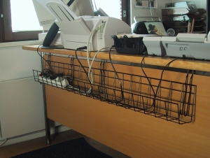 Cable Tray Wire for desk cable management  KOS Ergonomics
