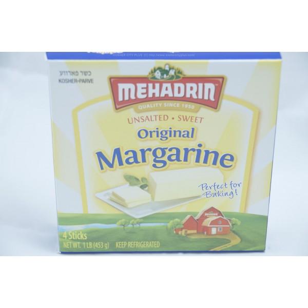 Mehadrin Unsalted Sweet Original Margarine Parve 4 sticks 1lb (453g)