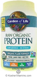 Garden of Life Kosher RAW Organic Protein Powder Original ...