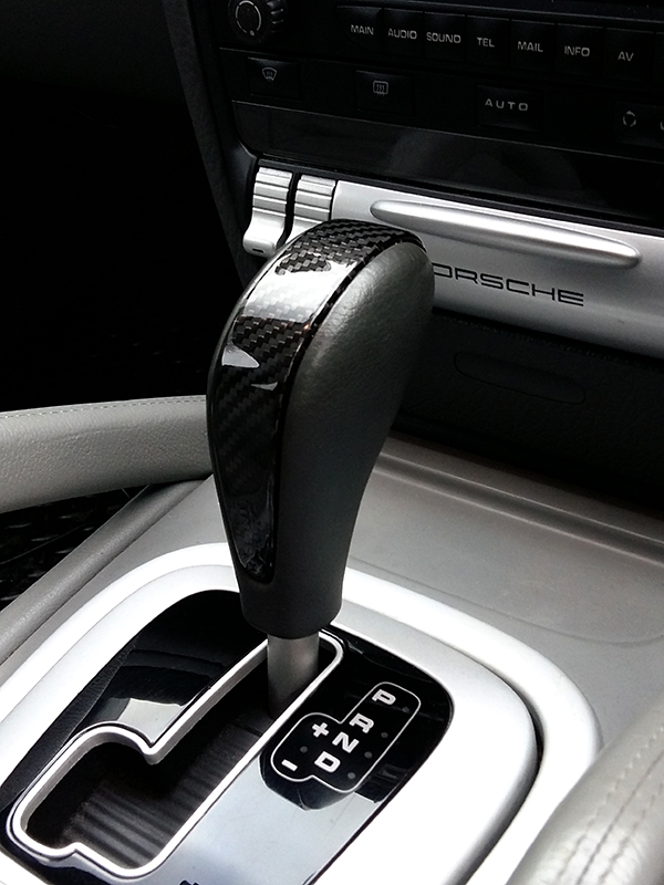 Carbon Fiber Porsche Cayenne Shift Knob Trim Koshi Group Llc