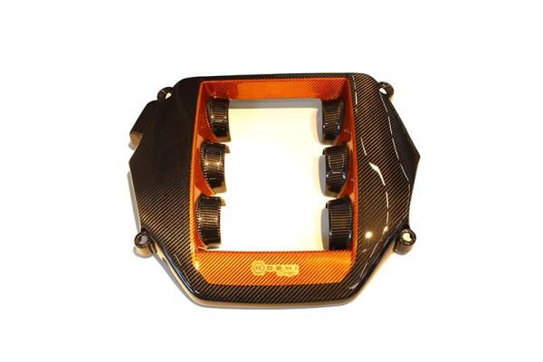 Orange black COMBO Carbon fiber Nissan GTR cover engine