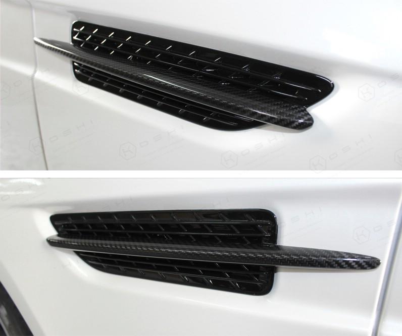Carbon Fiber Mercedes Benz SLK R172 lateral grill chrome frame ...