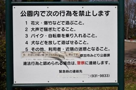 草加公園 禁止事項
