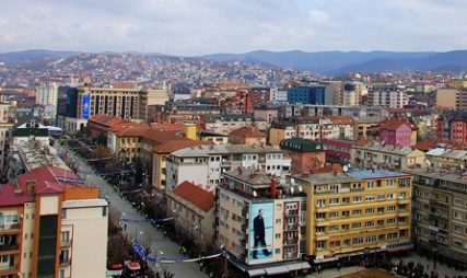 Pristina overview from Grand Hotel