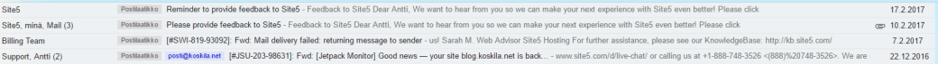 Site5 spamming me months after I cancelled my service with them